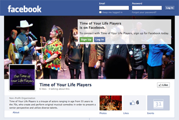 Time of Your Life Players is now on Facebook.